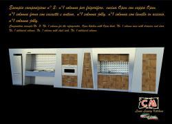 La creazione dei mobili della cucina di lusso