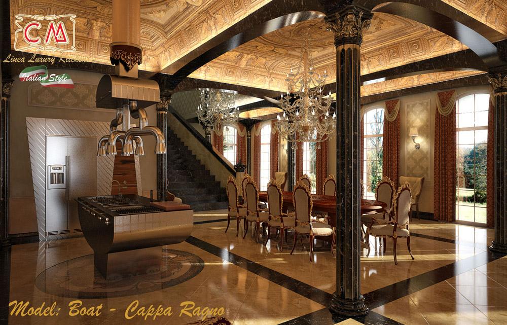 Cucine di lusso, per ville meravigliose e di prestigio